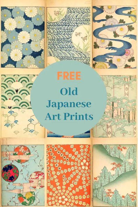 Free Old Japanese Art Prints From The Shin-Bijutsukai