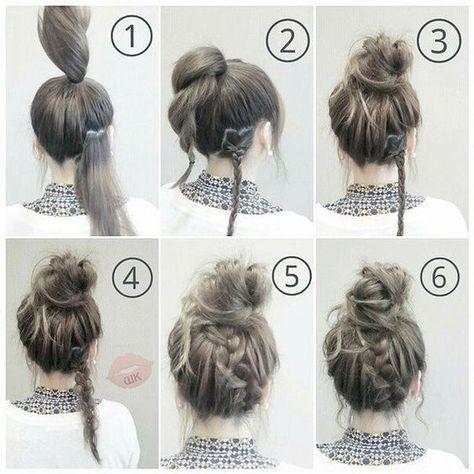 How To Do A Messy Bun Step By Step Lazy Girl Easy Hair 17 Ideas Hair Styles Medium Hair Styles Long Hair Styles