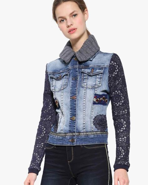 Desigual Exotic Crochet Jacket See other ideas and pictures from the category menu…. Faneks healthy and active life ideas