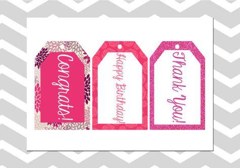 Pink Birthday/Wedding/Graduation/Thank by ADashOfBeautiful on Etsy, $4.00