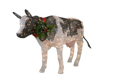 Find Red Shed Light Up Cow Christmas Lawn Ornament In The Outdoor Decor Category At Tractor Supply Co Get Into Lawn Ornament Christmas Animals Festival Lights
