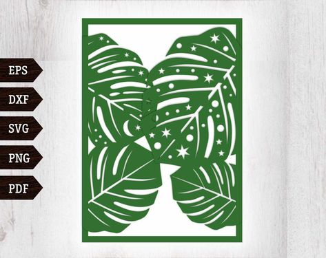 tropical wedding invitation monstera leaf celestial invitation