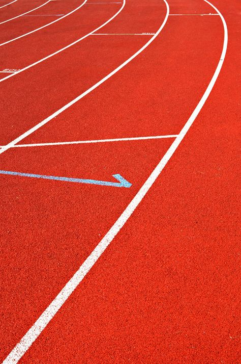 Track and field on a bright red course. Inspiration for our Sports Luxe shoot in the November 16 issue.