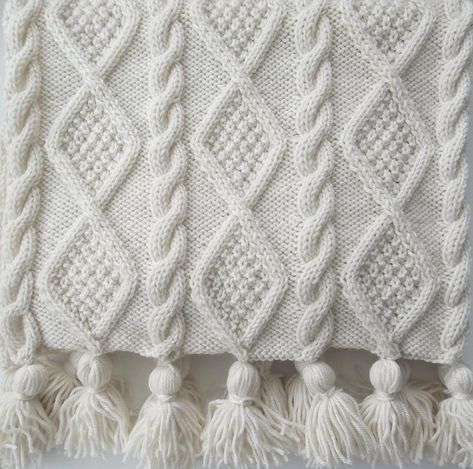 Aran Cable Scarf and Throw Knitting pattern by Audrey Wilson
