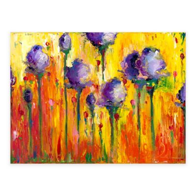 Cheerful Flowers All Weather Outdoor Canvas Wall Art Multi Art Canvas Wall Art Outdoor Wall Art