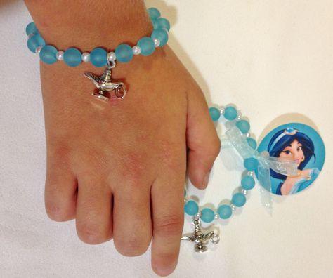 6 x Aladdin Lamp Charm Bracelets Party Bags Favours Girls