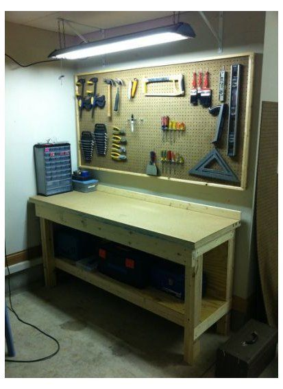Workbench Workshop I Setup Workbench Diy Work Benches Workbench Be Sure To Take A Look At In 2020 Garage Work Bench Diy Garage Storage Tool Bench Organization