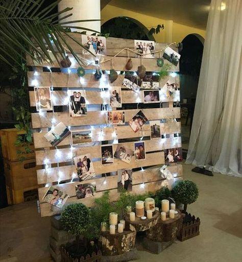 panel de recuerdo decorados con hojas verdes