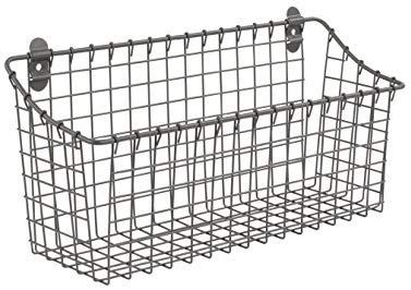 Amazon Com Spectrum Diversified Vintage Wall Mount Storage Basket 15 X 5 X 7 Industrial Gray Home Storage Baskets Vintage Cabinets Spectrum Diversified