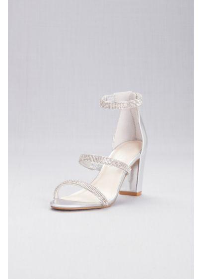 Triple-Strap Block Heel Sandals with