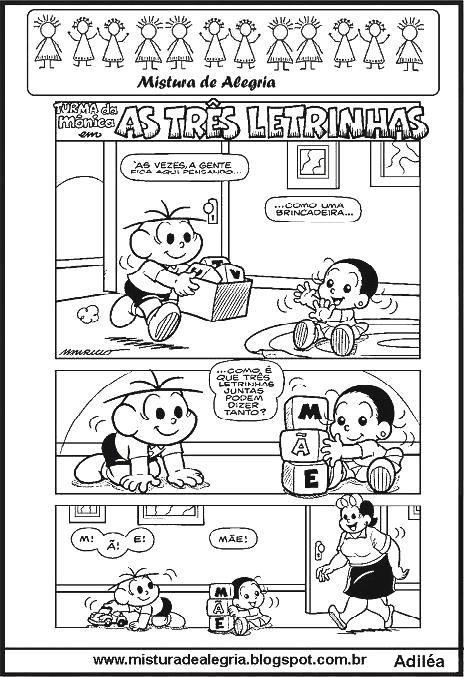 Tirinha Em Quadrinhos As 3 Letrinhas Mae No Jeito De Imprimir