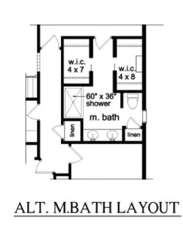 No Tub In The Master Bath Otherwise Pretty Spot On Floor Plans Aflfpw76674 1 Story Ranch Bathroom Floor Plans Small Bedroom Remodel Master Bathroom Layout