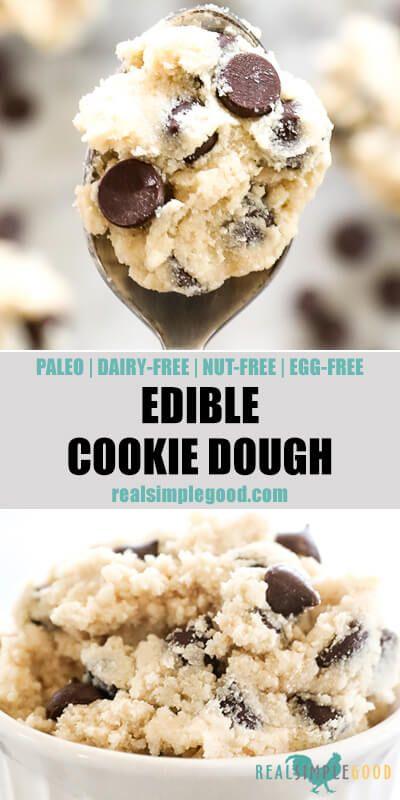 Edible Cookie Dough Recipe Paleo Nut Free Vegan Recipe Edible Cookie Dough Dairy Free Cookie Dough Edible Cookie Dough Recipe