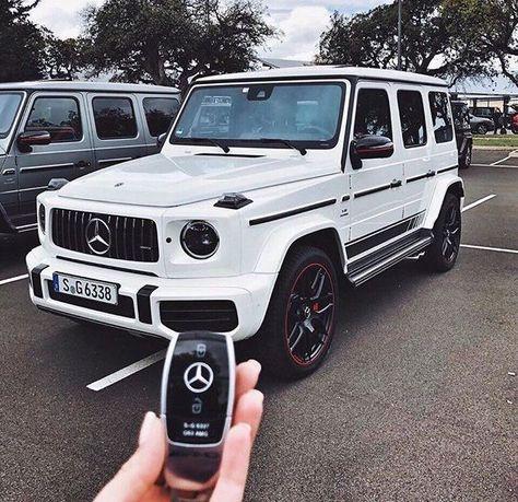 Dope weißer G Wagon – cars – Super Autos Maserati, Bugatti, Ferrari, Mercedes Auto, Mercedes G Class, White G Wagon, Mercedes G Wagon White, My Dream Car, Dream Cars
