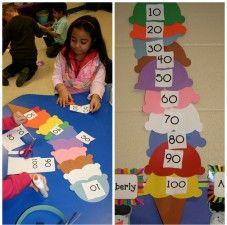 100th Day of School Activity: Scoop Upon Scoop #kidcrafts