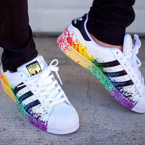 #Custom Adidas Superstars by @waxfeller | Inspiración para mi estilo |  Pinterest | Adidas superstar, Adidas and Adidas shoes