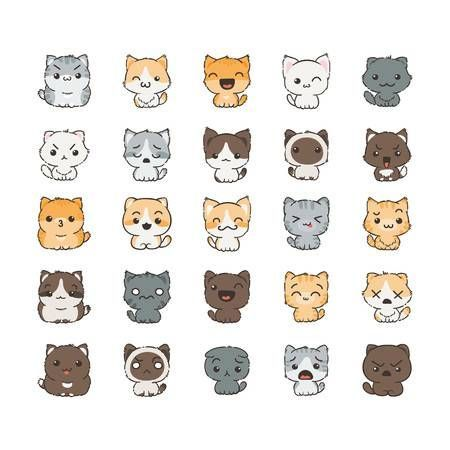 Cute Cats Cartoon Cartoon Niedliche Katzen Cartoon Dessin