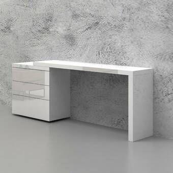 Camron L Shape Executive Desk White Contemporary Desk High Gloss White Lacquer L Shaped Executive Desk