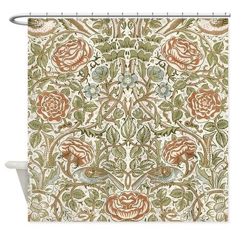 William Morris Rose Shower Curtain Cool Shower Curtains