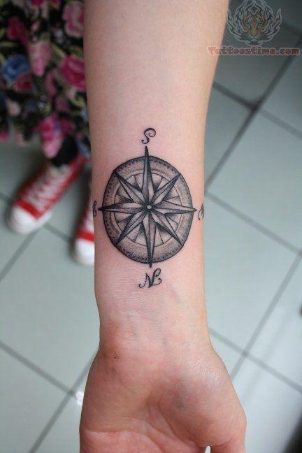 Feminine Wrist Compass Rose Tattoo Tattoo Pinterest Compass Tattoo Tattoos For Guys Tattoo Designs Wrist
