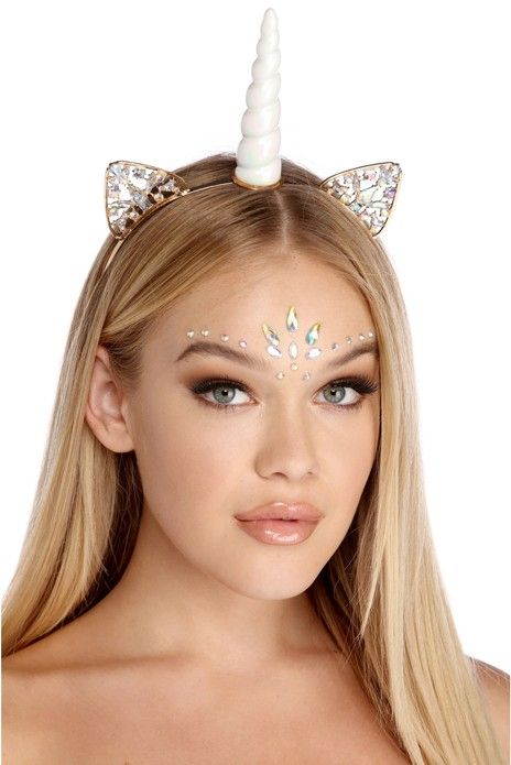 Wig Not Included Unicorn Headband Queen Adult Halloween Costume Accessory