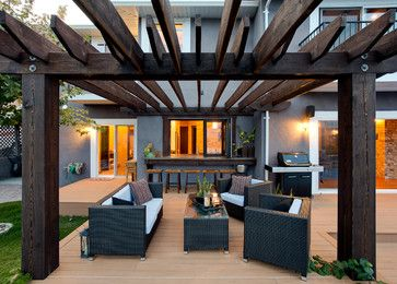 get idea! outdoor bar seating area with pass through window from kitchen area.