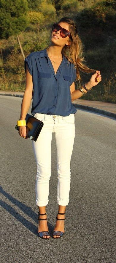 Blusa blanca botones dorados 2 – Elephantrooms