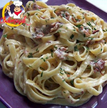 Fettucini Carbonara Club Masak Resep Masakan Resep Pasta