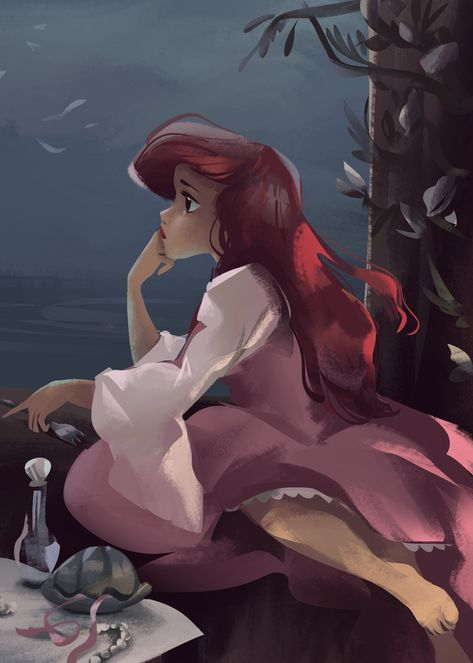 Disney *ARIEL ~ The Little Mermaid, Superfoods for Wholesome Hair We've all realized via the years { Ariel Disney, Disney Princess Art, Disney Fan Art, Disney Girls, Disney Magic, Ariel Ariel, Disney Animation, Disney And Dreamworks, Disney Pixar