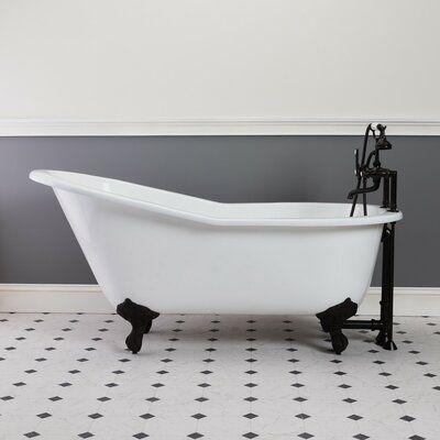 Chevington Mila 67 X 30 Clawfoot Soaking Bathtub Feet Finish