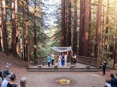 Kennolyn S Stone Creek Village Redwood Wedding Ceremony Redwood