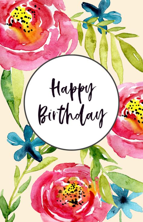 Free Printable Birthday Cards - Paper Trail Design printables printables for adults worksheet kindergarten birthday printable birthday printable cards Birthday Cards To Print, Free Happy Birthday Cards, Free Printable Birthday Cards, Watercolor Birthday Cards, Birthday Cards For Mom, Happy Birthday Mom, Happy Birthday Pictures, Happy Birthday Greetings, Birthday Greeting Cards