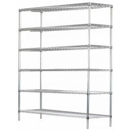 24 Deep X 60 Wide X 63 High 6 Tier Chrome Starter Shelving Unit In 2020 Shelves The Unit Chrome