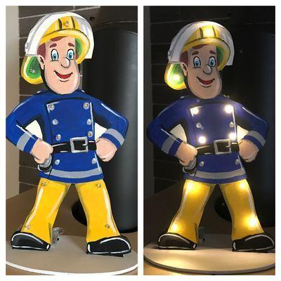 Lampe Feuerwehrmann Sam Feuerwehrmann Lampe Sam Feuerwehrmann Sam Feuerwehrmann Holzlampe