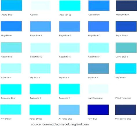 Shades Of Blue Chart