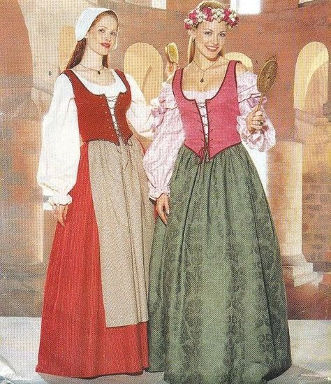 B 6196 Miss Costume Renaissance Costume Pattern in 2018   Ellie girl ...
