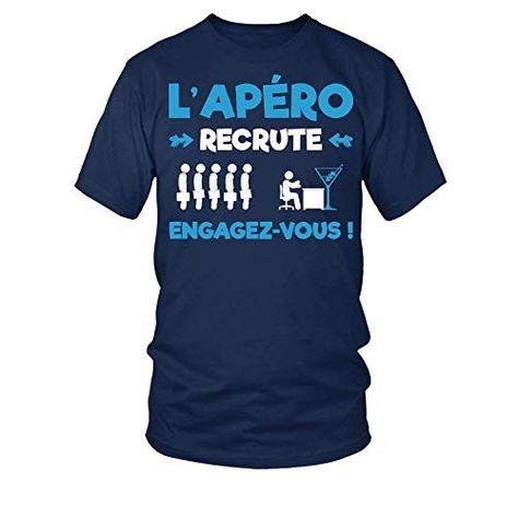 teezily T-Shirt L'apéro recrute engagez-Vous Homme
