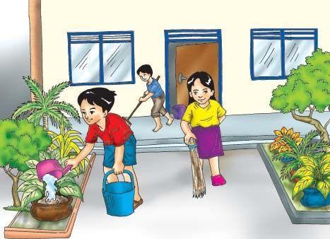 Contoh Gambar Kartun Tentang Lingkungan Sekolah Ideku Unik