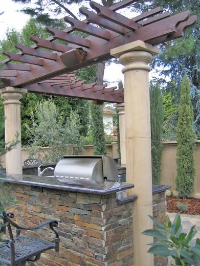 Photo Of South Bay Design And Landscaping San Jose Ca United States Modern Outdoor Modern Outdoor Kitchen Outdoor Structures