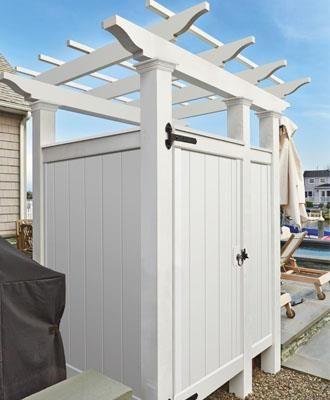 Outdoor Shower Enclosure Kits Walpole Outdoors In 2020 Outdoor