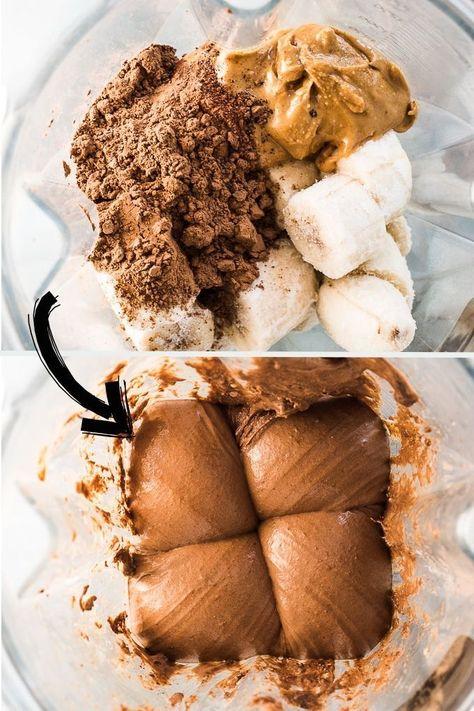 Chocolate Banana Ice Cream - only 3 healthy ingredients. | vegan + gluten-free + paleo | #bananaicecream #chocolateicecream #vegan #glutenfree #healthyicecream