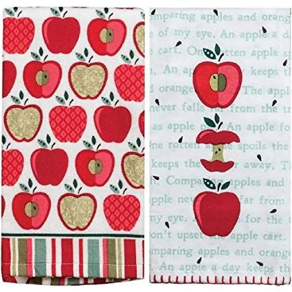 Kay Dee Designs Happy Apple Krinkle Flour Sack Towel and ...