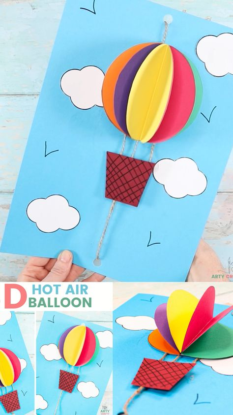 3D Hot Air Balloon Craft