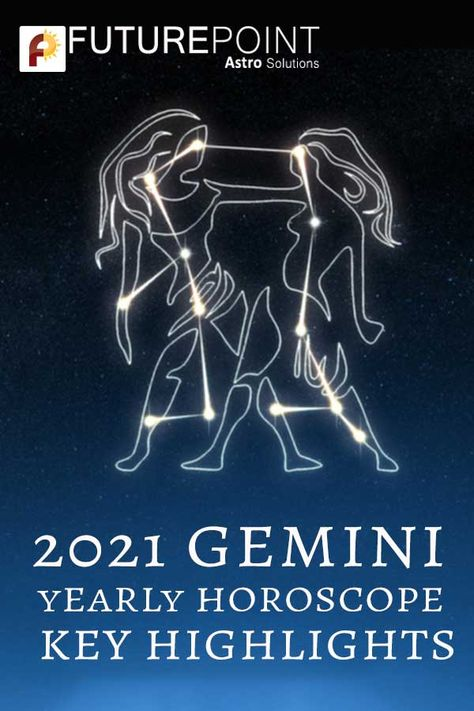 Read 2021 Gemini yearly horoscope online and get detailed predictions for love, marriage, finance, career, business, and education. 👉Choose Future Point free yet accurate predictions to astrologically get guided of your life's varying aspects. #Gemini #2021Gemini #2021YearlyHoroscope #2021YearlyAstrology #Astrologer #ZodiacSign #ZodiacPost #ZodiacHoroscope #Astrology #Horoscope