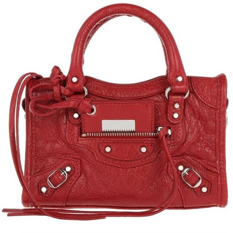 eaf820e39750 Balenciaga Shoulder Bag - Classic Nano City Arena Fettucia Rouge ... ( 890