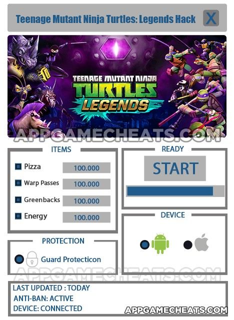 Ninja Turtles Legends Codes