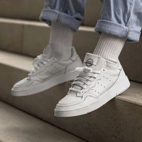 Adidassupercourt Diskon Ampe Lumer Ni Bray Adidas Supercourt Full White Sz 37 1 33839 Hot Adidas Sneakers Outfit Sneakers Outfit Men Sneakers Men Fashion