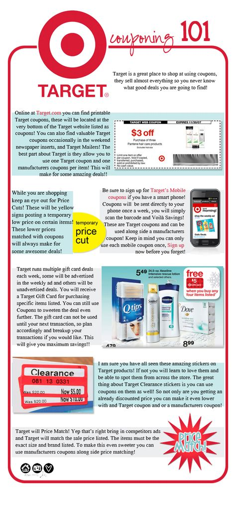 Target Couponing 101 - Great Chart.  Who doesn't love Target?