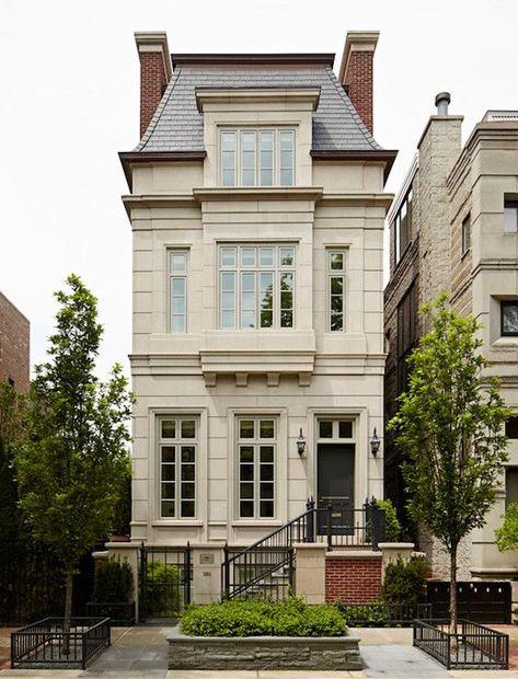 Classic row home - beautiful architecture! #homeexteriors #urbanhomes