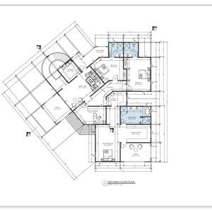 4 Bedroom House Plan 4 Bedroom Floor Plan Instant Download Modern House Plans Sketch House Plans Modern Architectural Home Buy Now Bedroom House Plans 4 Bedroom House Plans House Plans